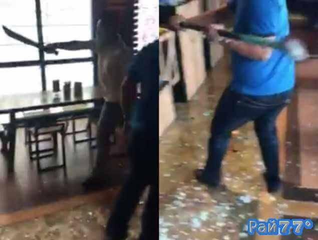 Малайзийские бандиты разнесли ресторан
