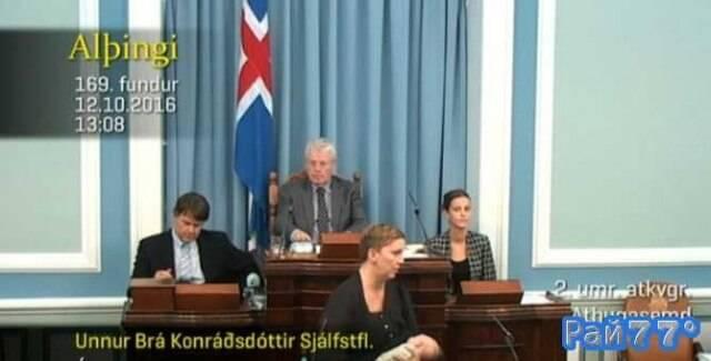 Исландский политик во время дебатов кормила ребёнка грудью