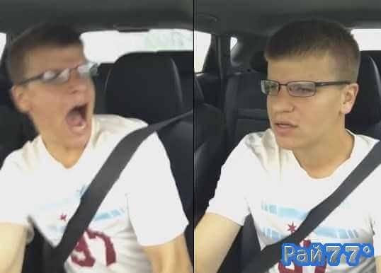 Американец, распевая песни за рулём, разбил свой автомобиль