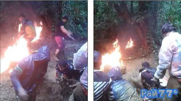 Двое испанцев загорелись при попытке накачать колесо при помощи бензина