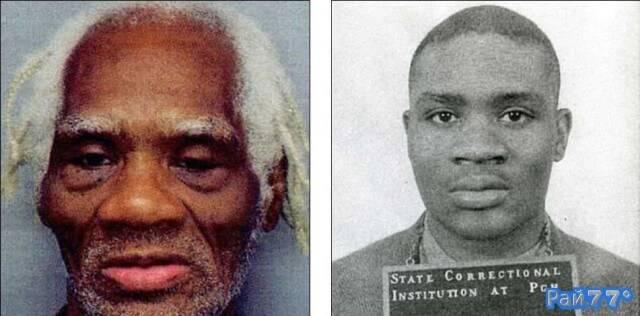 Джозеф Лигон на момент совершения преступления в 1953 году и сейчас