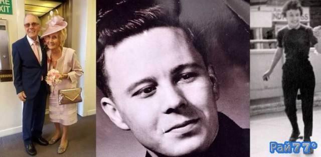 Британцы поженились спустя 65 лет (слева). Дэви Моакес (Davy Moakes) в 1951 году (в центре). Хелен Андре ы 1951 году (справа).