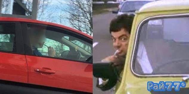Британец почистил зубы во время управления свои автомобилем