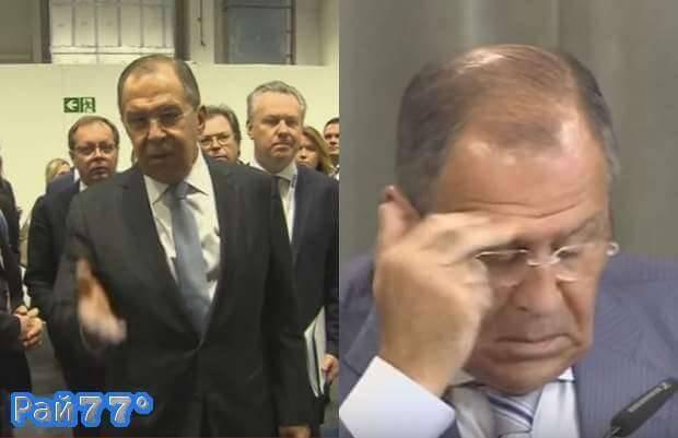 «Дебилы, бл.. !» Обращение министра иностранных дел РФ к украинским корреспондентам. (Видео)