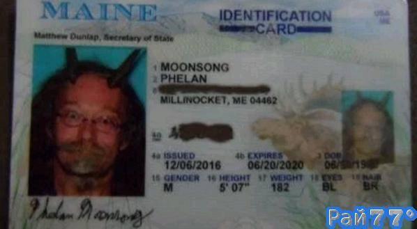 Очередной американский сектант добился права запечатлеться с необычным «украшением» на голове для водительского удостоверения. (Видео)