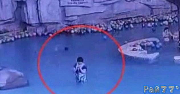 Четырёхлетний ребёнок утонул в бассейне по вине нерадивой мамаши, занятой своим телефоном. (Видео)