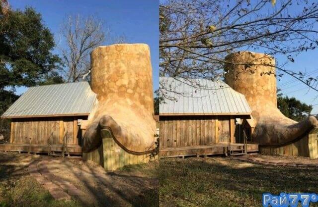 Американский художник построил дом в виде ковбойского ботинка в Техасе.
