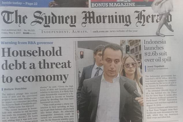 Австралийская газеты вышла в печать с грубейшей орфографической ошибкой из за массовой забастовки работников издания.