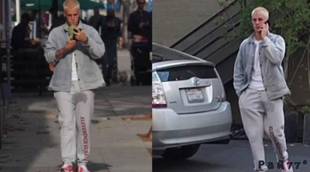 Папарацци запечатлел Джастина Бибера с подмоченной репутацией. (Видео)