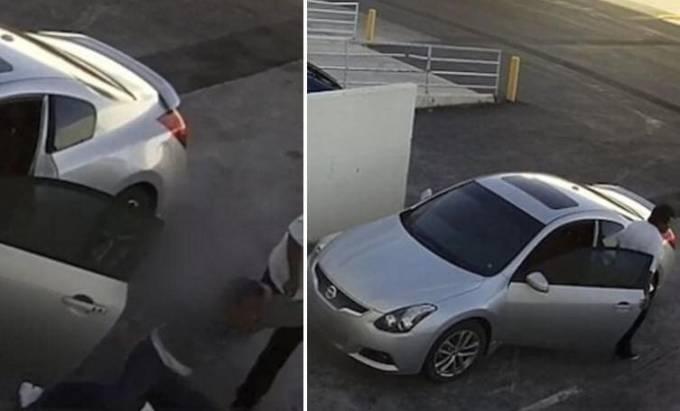 Не знание устройства автомобиля с механической КПП сыграло злую шутку с несостоявшимся угонщиком в Лас - Вегасе. (Видео)