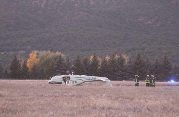 Пилот самолёта совершил экстренную посадку на поле в США