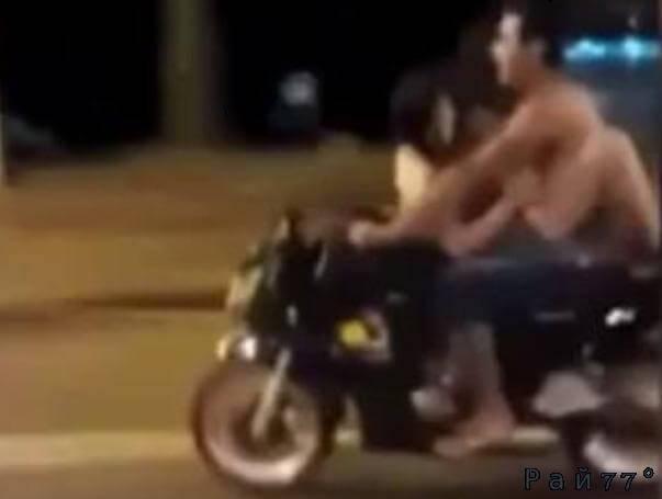 Парагвайские экстремалы продемонстрировали свою страсть во время езды на мотоцикле. (Видео)