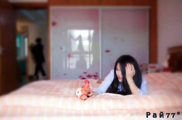 Экономная китаянка сдаёт в «субаренду» половину кровати в съёмной комнате.