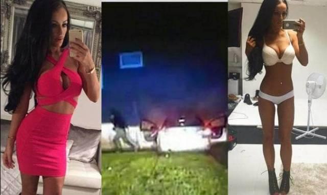 Модель нижнего белья, уходя от полицейской погони, разбила угнанный автомобиль в Британии. (Видео)