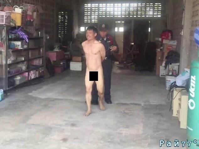 Тайские полицейские с поличным задержали слишком любвеобильного мужчину.