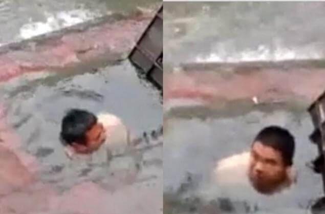 Трудовые будни обычного китайского водопроводчика. (Видео)