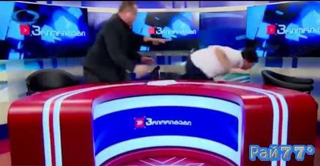 Грузинские политики сошлись в рукопашную в прямом эфире во время дебатов