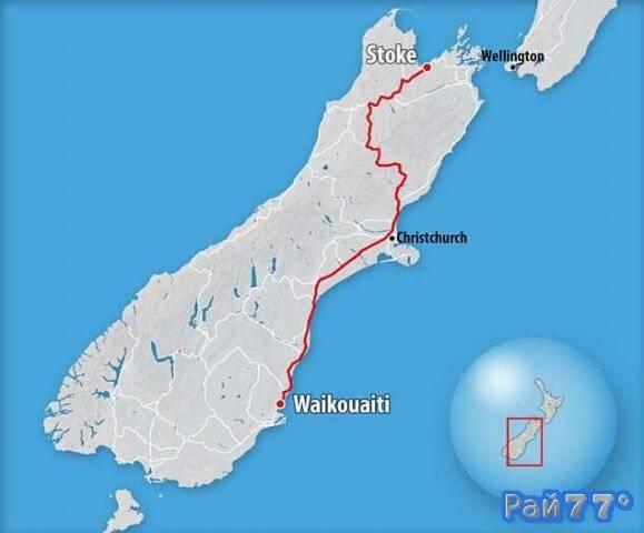 Новозеландские полицейские 16 часов гонялись за превысившим скорость автомобилистом