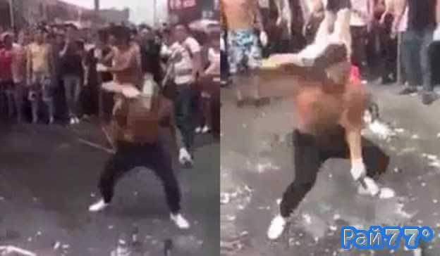 Соревнование по разбиванию бутылок с пивом в Тайланде