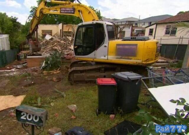 Австралийские строители ошиблись адресом и снесли не тот дом. (Видео)