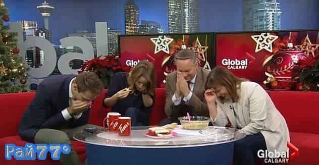 Провальная дегустация во время прямого эфира на канадском телевидении. (Видео)
