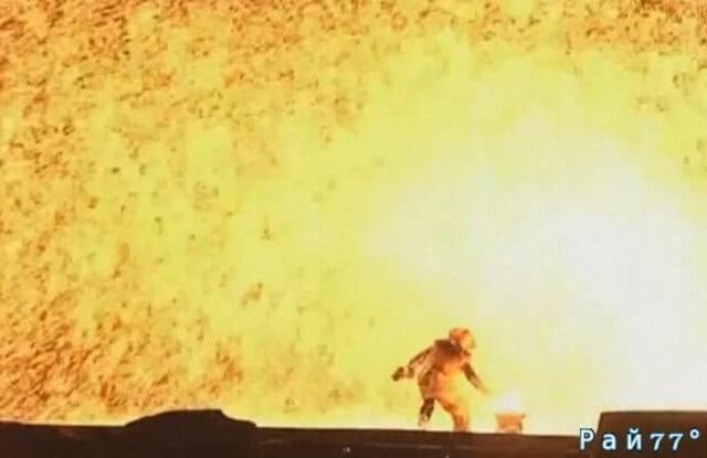 Впечатляющее огненное зрелище привлекло внимание мировых информационных агенств. (Видео)