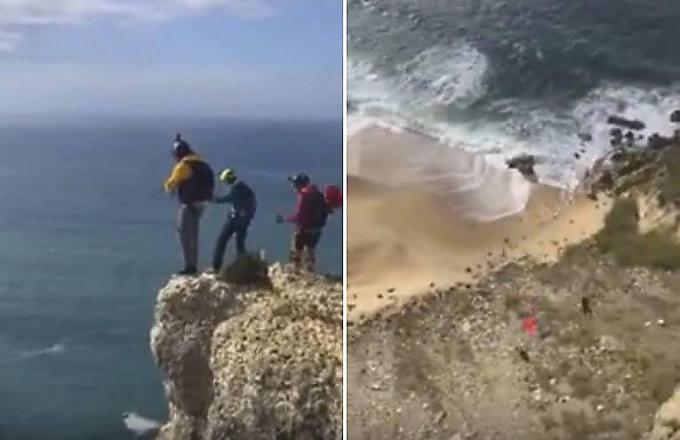 У немецкого бейсджампера не раскрылся парашют во время прыжка с 80-метровой горы в Португалии