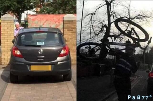 Воздействие «весеннего обострения» продемонстрировали два участника дорожного движения в разных уголках Британии. (2 видео)