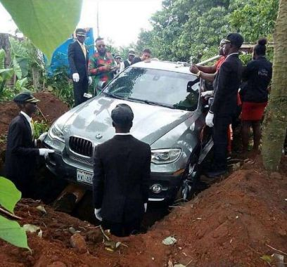 Похоронили в BMW