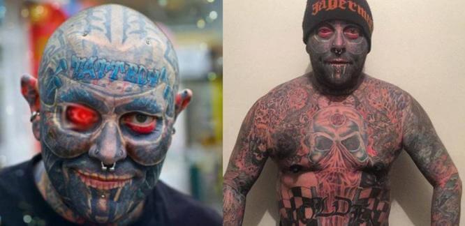Австралиец потратил 100000$ на татуировки. (Видео)