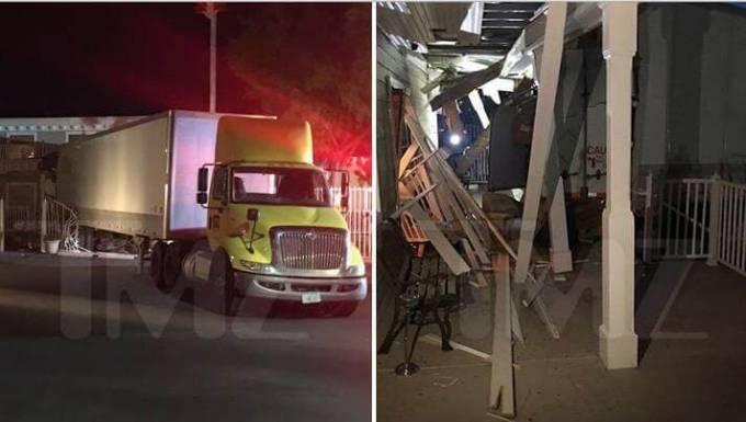 Американский угонщик на фуре протаранил публичный дом в Неваде. (Видео)